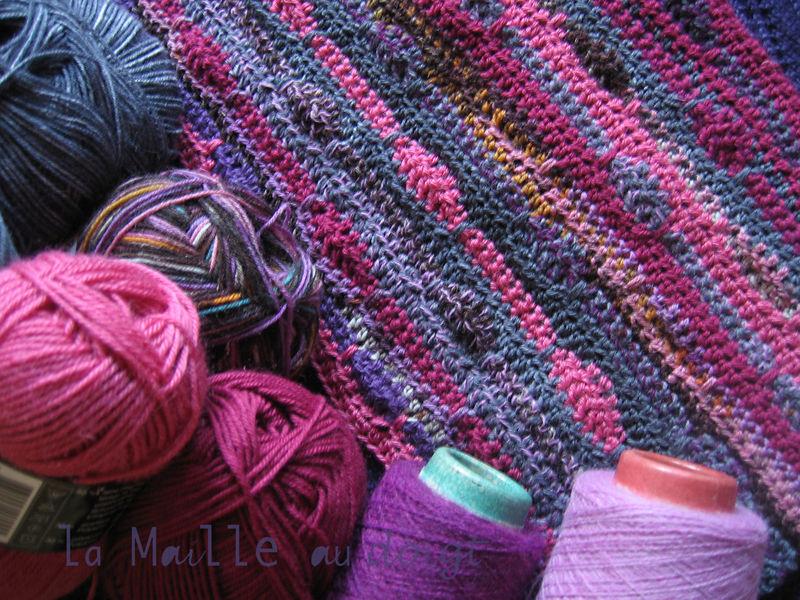 Tricoter des rayures horizontales