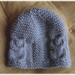 Tricot bonnet bébé hibou