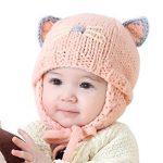 Tricot bonnet cache oreille bébé
