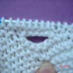 Boutonnière tricot point de riz