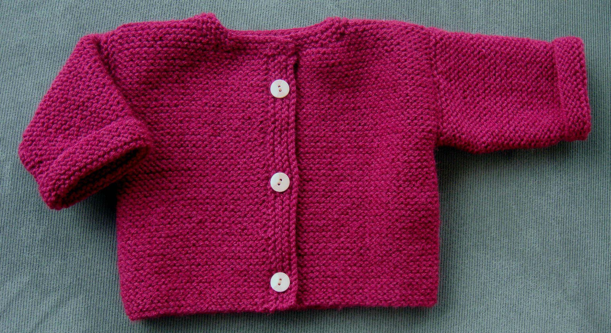 Tricoter vetement bebe debutant