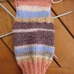 Tricoter talon chaussettes 4 aiguilles