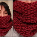 Tricot snood femme point de riz