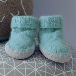 Tricot chausson bebe hibou