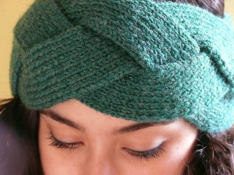 Tricoter headband tressé