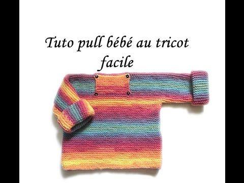Tricoter pull bebe debutant