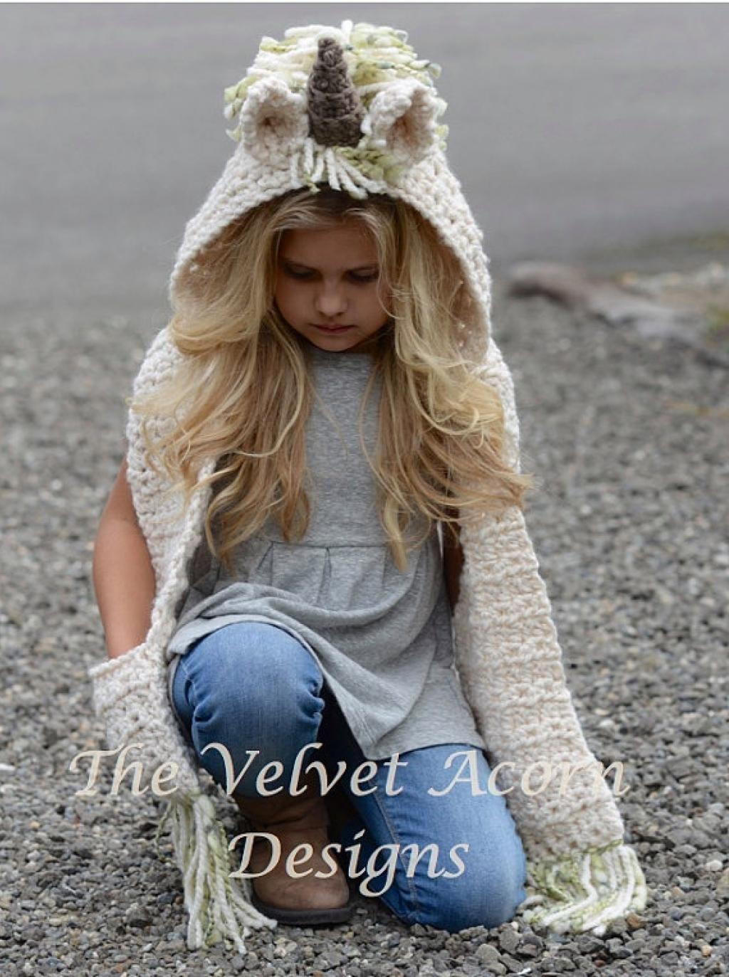 Tricot bonnet licorne