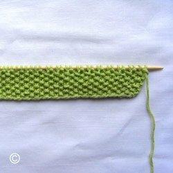 Explication du point de riz au tricot