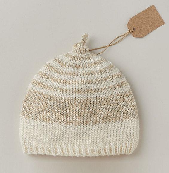 Tricot bonnet layette gratuit