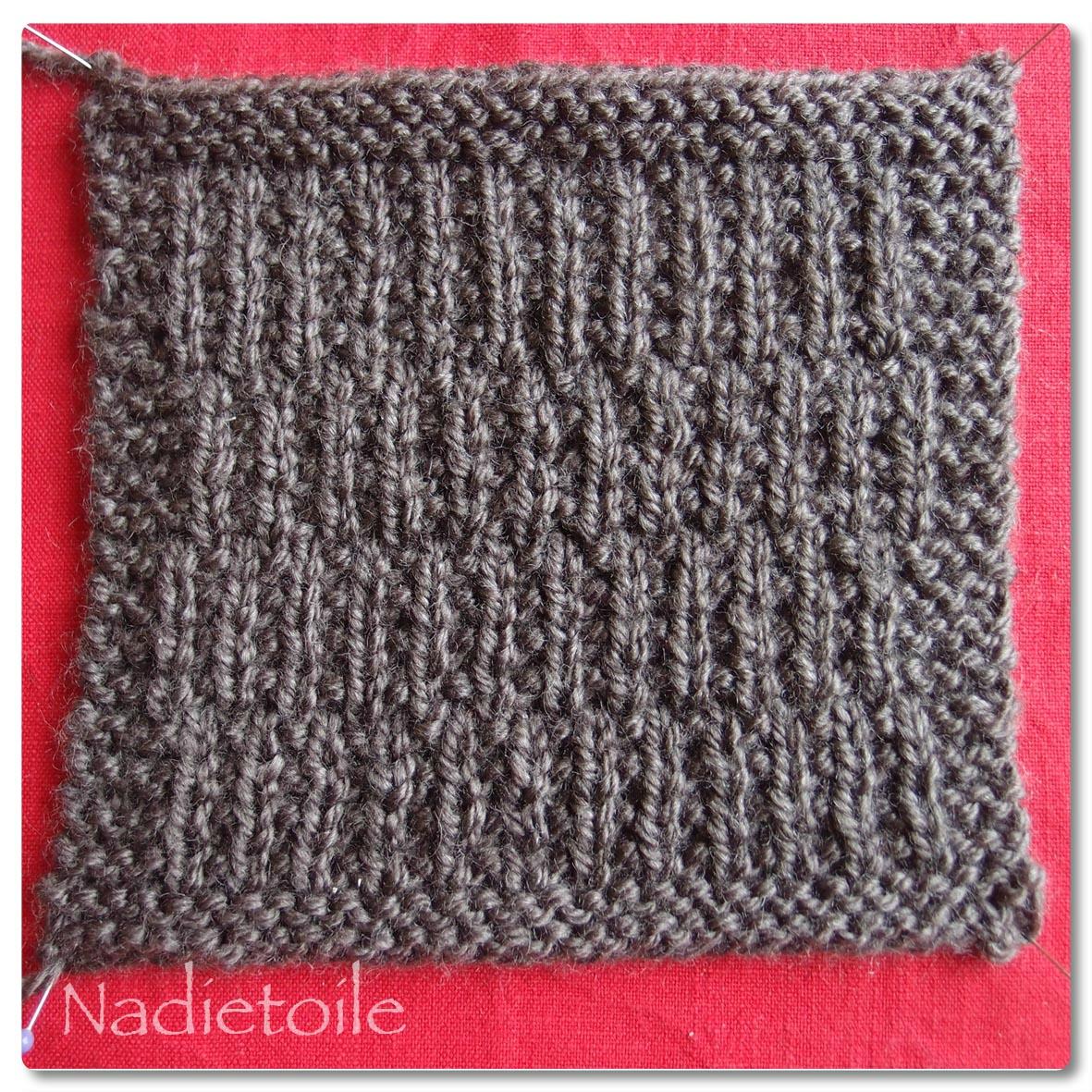 Tricoter cote 1/1