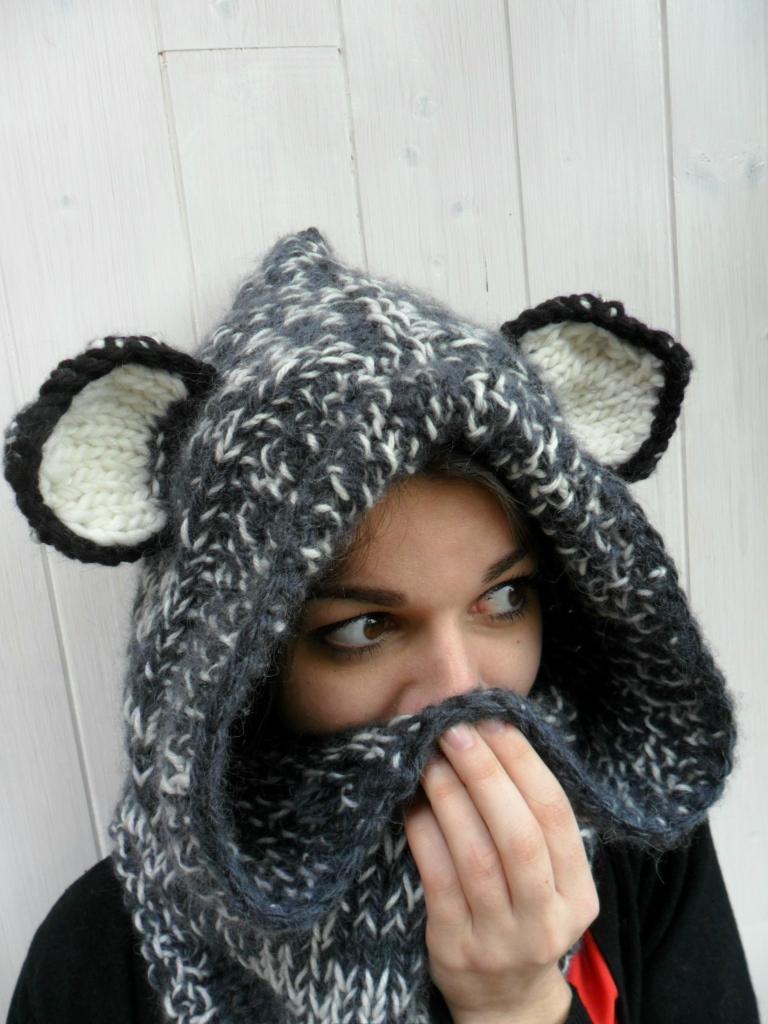 Tricoter un bonnet avec des oreilles de chat