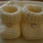 Tricot chausson bébé débutant