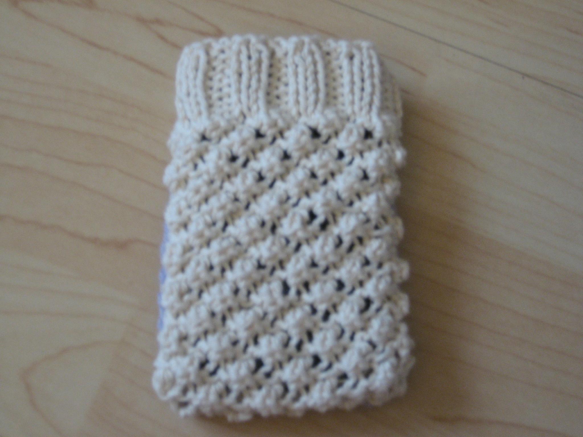 Tricoter housse telephone portable