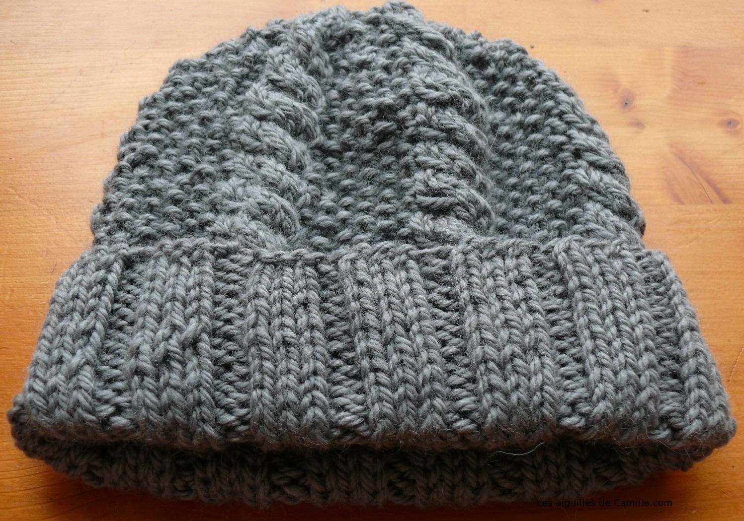 Tricoter un bonnet avec 4 aiguilles