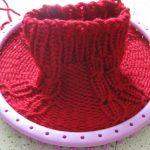 Tricoter avec un tricotin rond