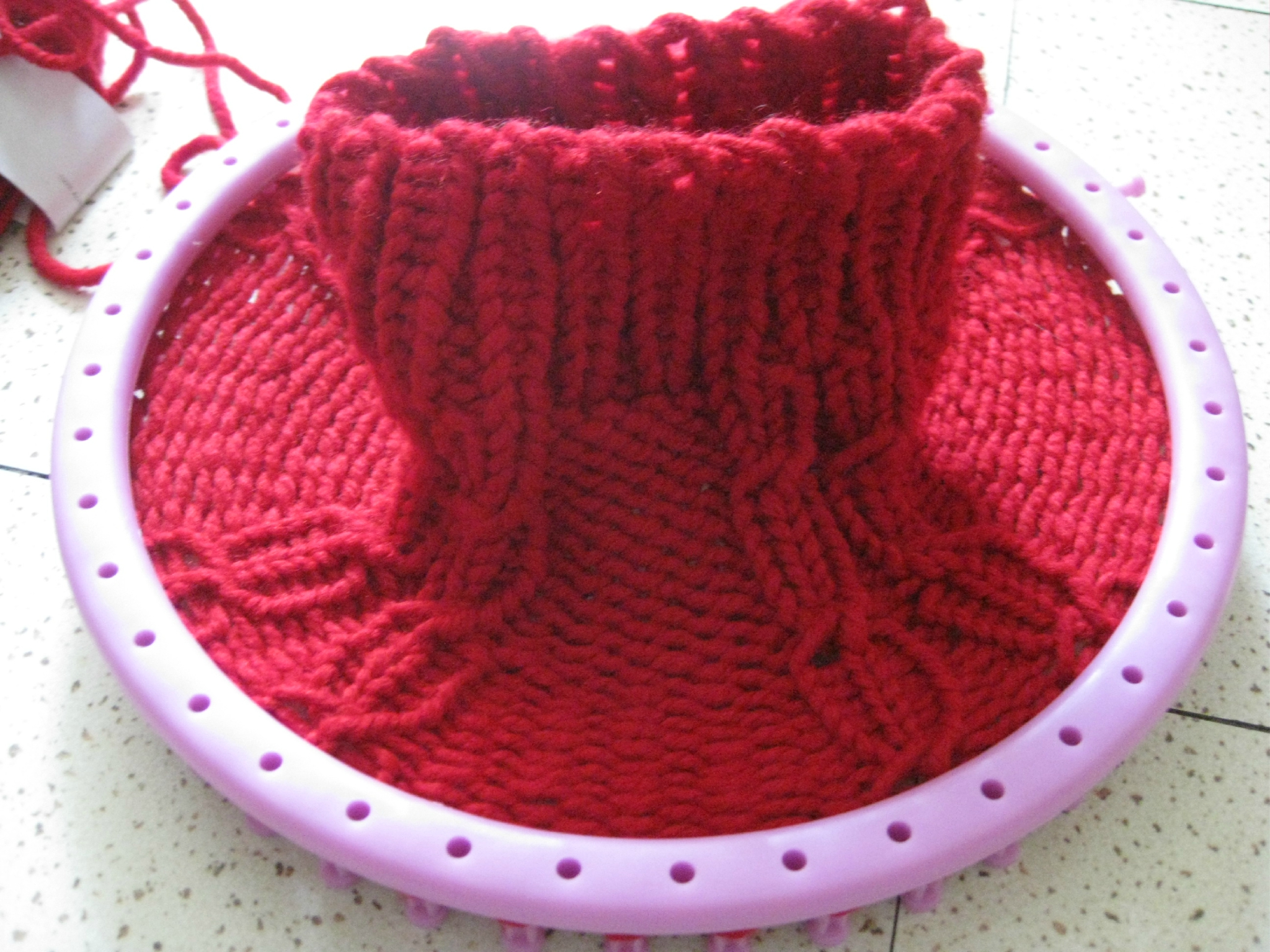 Tuto tricotin en rond