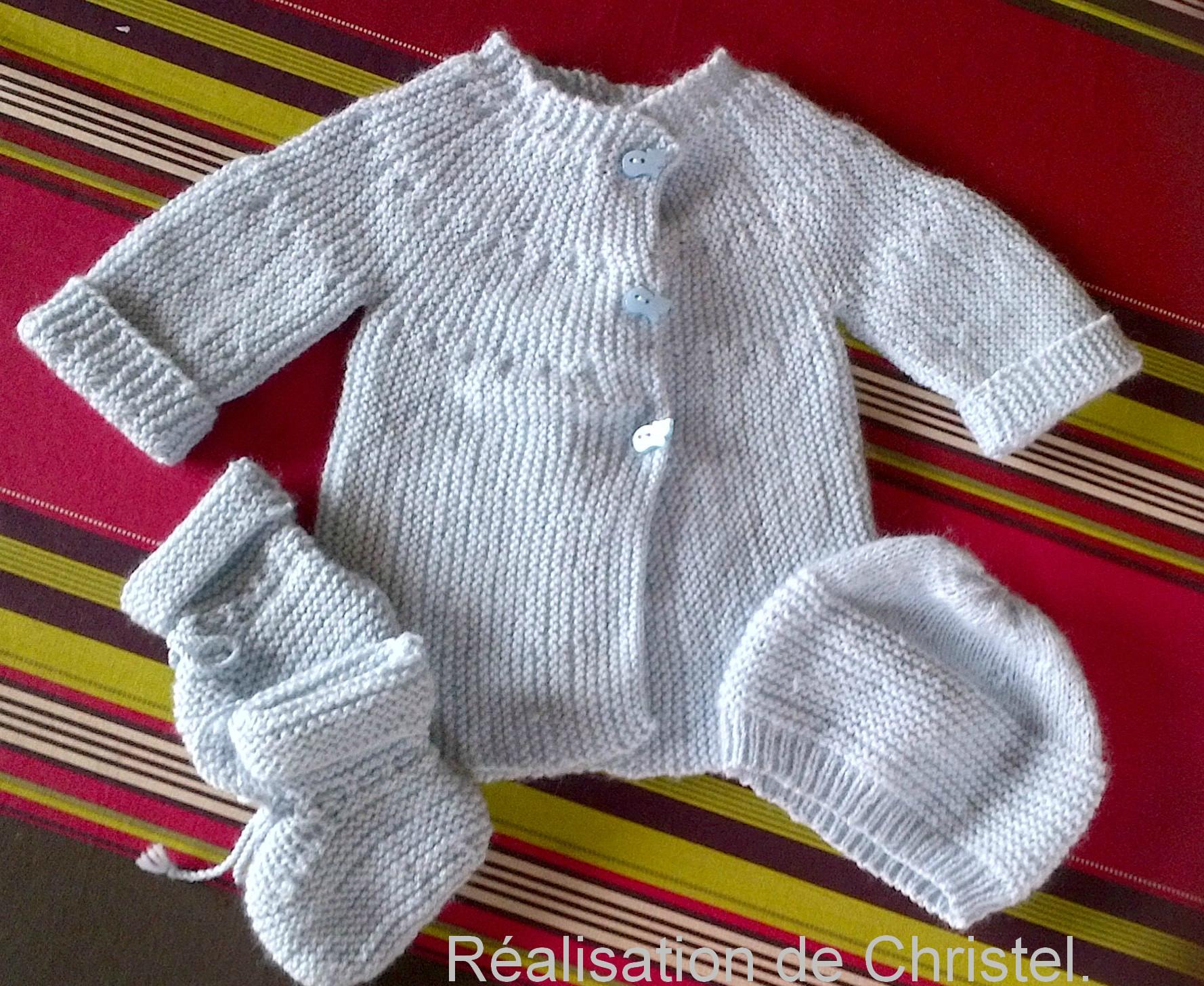 Tricot bébé facile modele