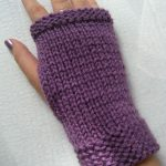 Tuto mitaine tricot point de riz