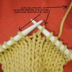 Tricoter jeté torse à l'envers