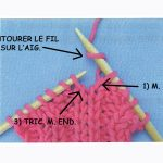 Tricot augmentation barrée envers