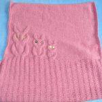 Couverture bébé tricot hibou