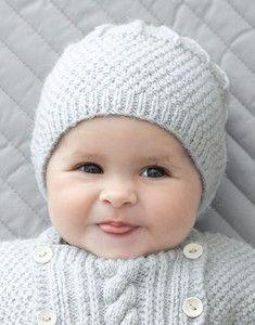 Tricot bonnet bébé gratuit