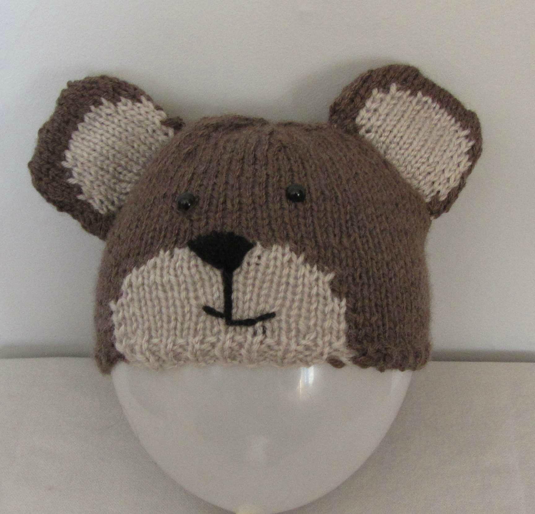 Tricot bonnet ours bebe