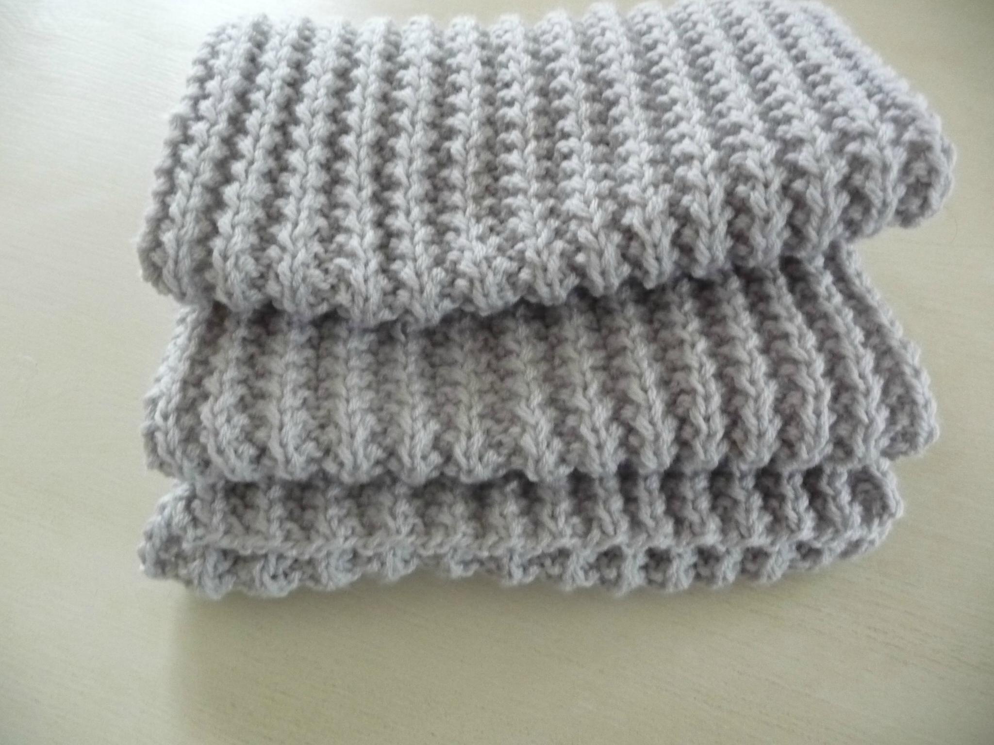 Tricot facile echarpe grosse laine