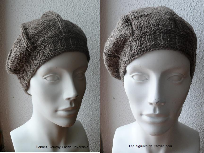 Tricoter un bonnet slouch tuto