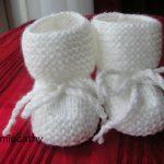 Tricot chaussons bébé naissance