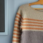 Modèle tricot pull rayé femme
