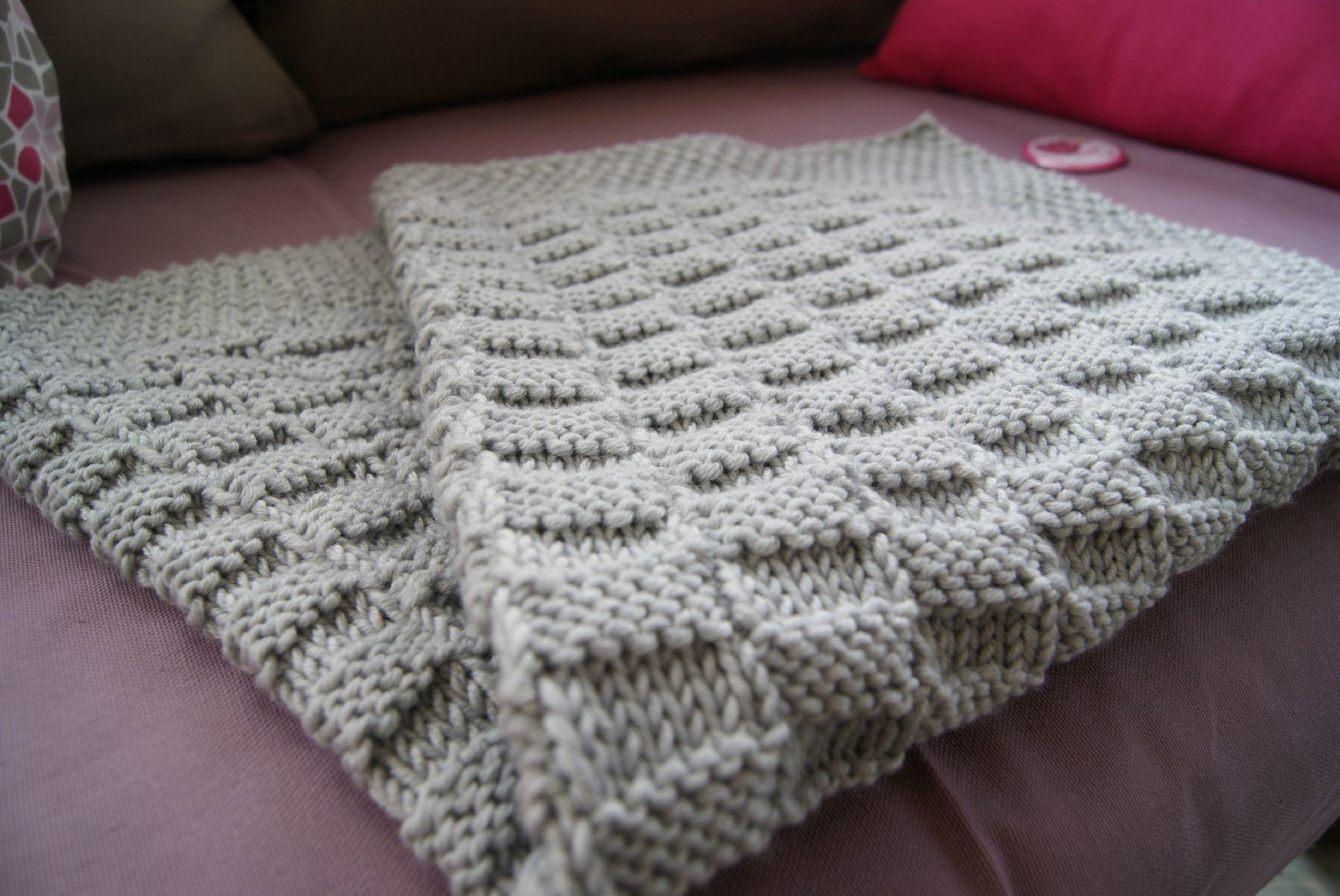 Tricoter un plaid facile