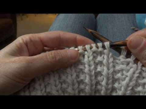 Point de riz tricot en anglais