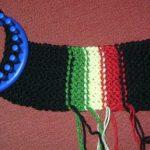 Tuto tricotin rond echarpe