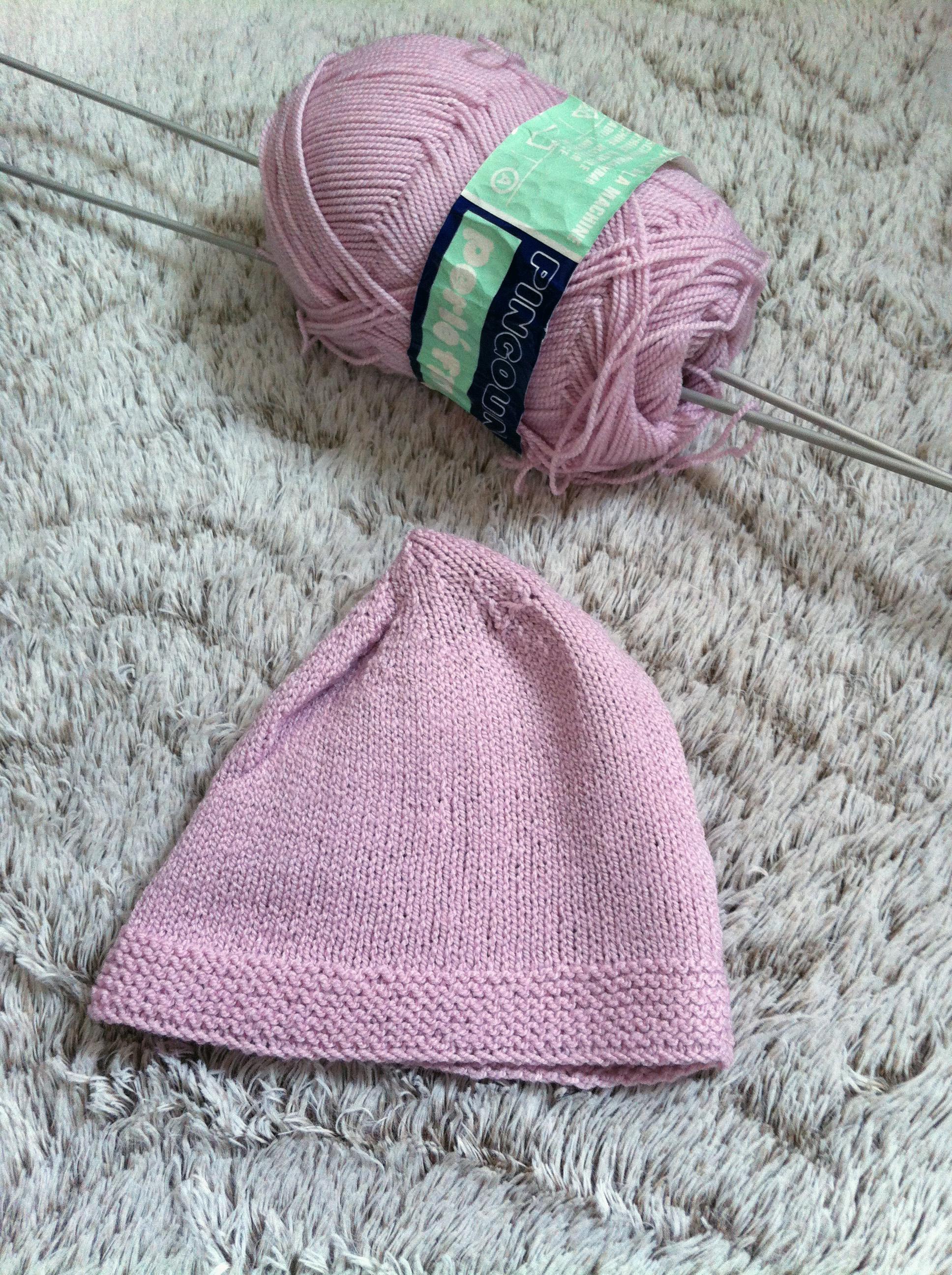 Tricoter bonnet bébé naissance