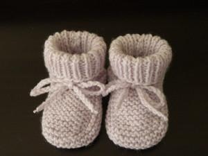 Tricoter chaussons bébé