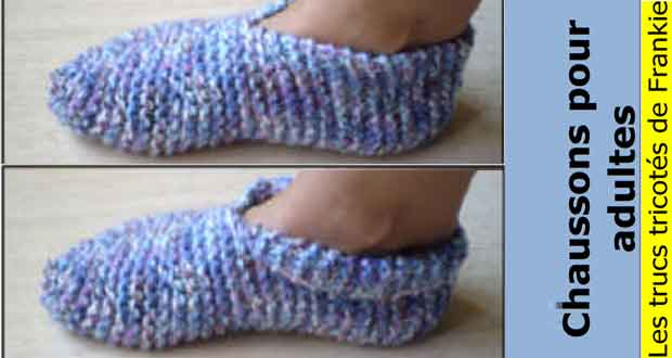 Tricoter des chaussons adulte