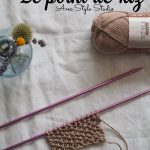 Point de riz tricot maille impair