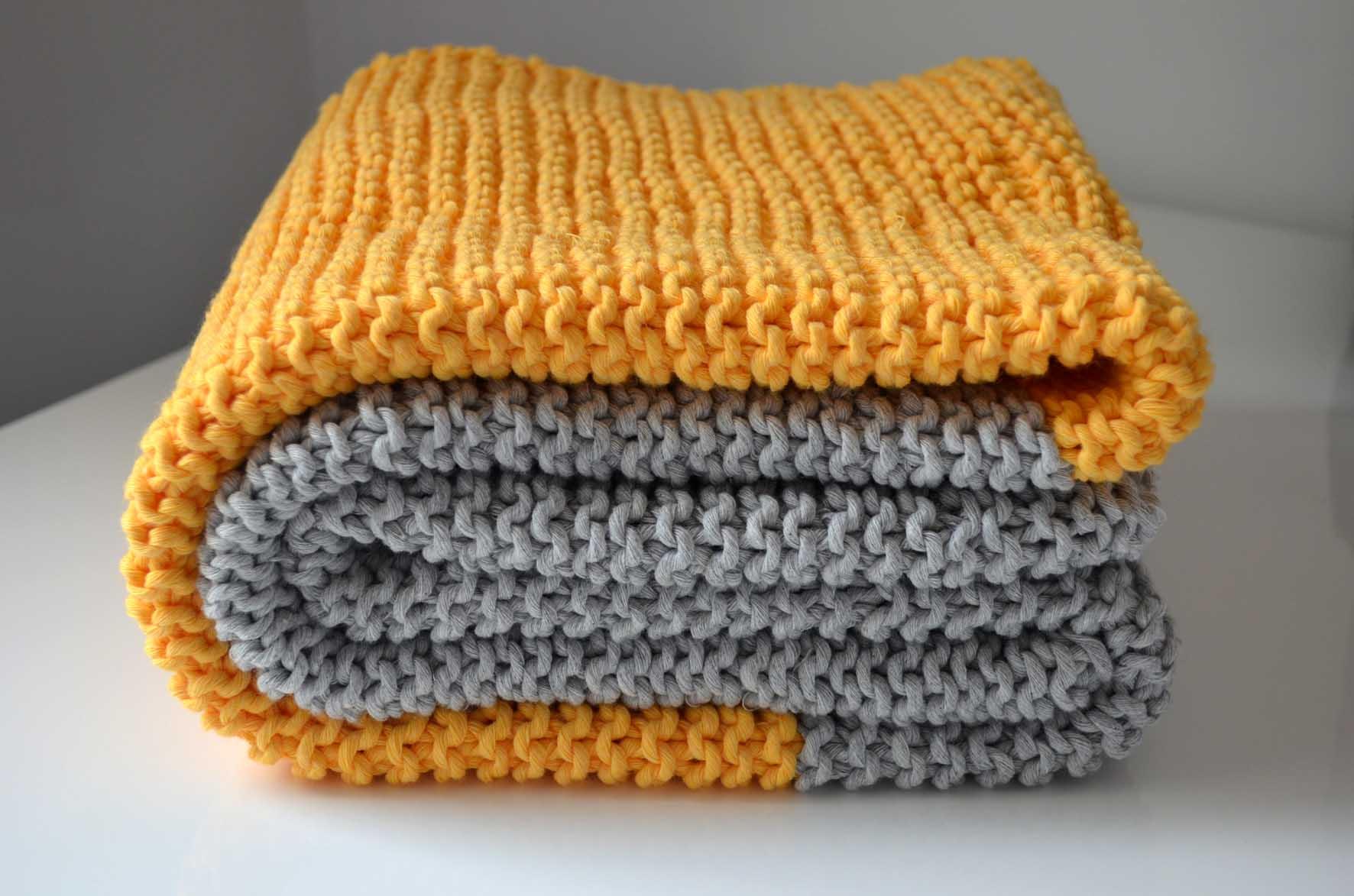 Tricoter un plaid au point mousse