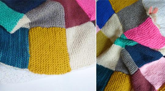 Tricoter un plaid en carré
