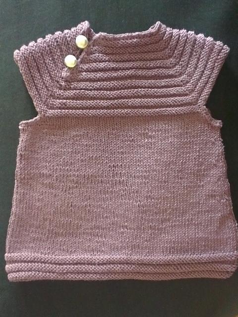 Tricot robe bébé facile