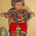Tricoter vetement poupon 30 cm