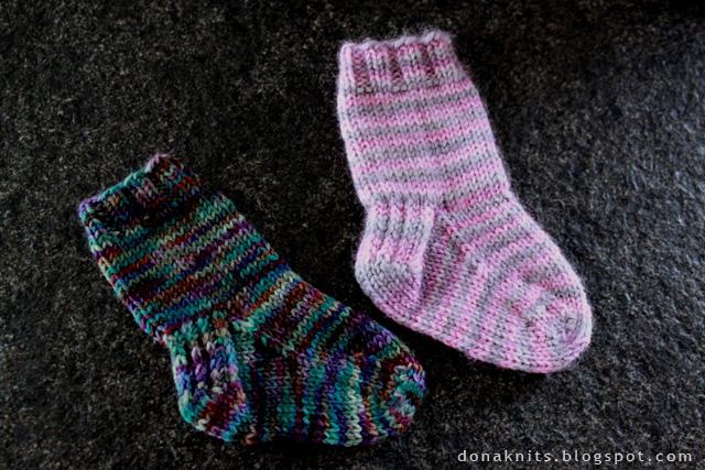Tricoter chaussettes bébé 2 aiguilles