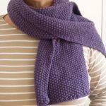 Point de riz tricot pour echarpe