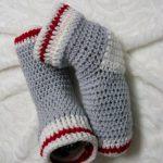 Tricot bebe style bas de laine