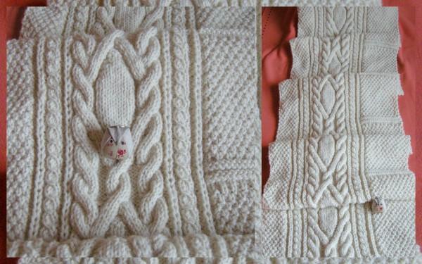 Tricoter un plaid irlandais