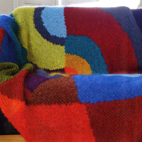 Tricoter un plaid en mohair