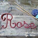 Tricotin prenom rose