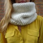 Tricoter snood point mousse