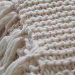Tricoter un plaid point mousse